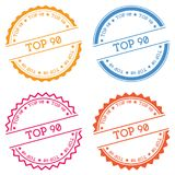 Top 90 badge isolated on white background. Stock Photos