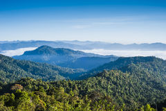 Top of Banjaran Titiwangsa Stock Photography