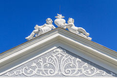 Top of Baroque Portal Royalty Free Stock Photography