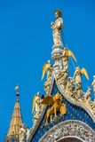 Top of the Basilica di San Marco in Venice Stock Photo