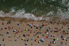 Top Beach View in Portugal. Aerial view of a beach in Portugal stock photography