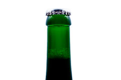 Top of beer bottle close, isolated. Top of special beer bottle close. Isolated on white background Stock Photography