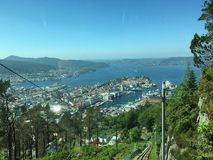On the top of Bergen. Beautiful view over Bergen Royalty Free Stock Image