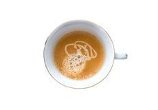 Top beskådar av en kupa av kaffe royaltyfria bilder