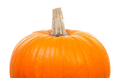 Top of Big orange pumpkin Royalty Free Stock Photos