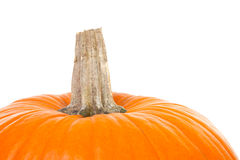 Top of Big orange pumpkin Stock Photo