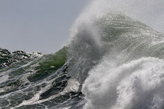 Top of a big wave. Detailed photo Royalty Free Stock Images