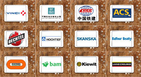 Top biggest construction companies logos and icons Stock Photos