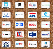 Top biggest Container shipping companies logos and vector Royalty Free Stock Photography