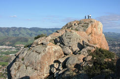 On Top of Bishop Peak, San Luis Obispo stock image