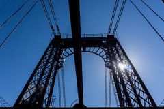 Top of the Bizkaia suspension bridge Stock Photos