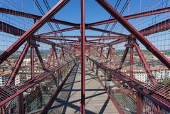On top of the Bizkaia suspension bridge Stock Photos