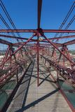 On top of the Bizkaia suspension bridge Stock Photo