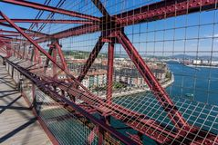 On top of the Bizkaia suspension bridge Stock Photography