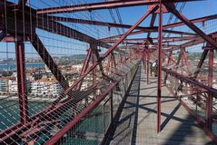 On top of the Bizkaia suspension bridge Royalty Free Stock Image