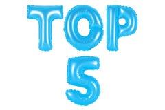 Top 5 blåttfärg Royaltyfri Fotografi
