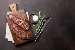 Top blade or denver steak stock images