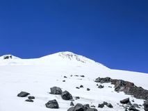 Top blanco como la nieve del monte Elbrus Imagenes de archivo