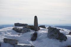 Top blanco del invierno Imagenes de archivo