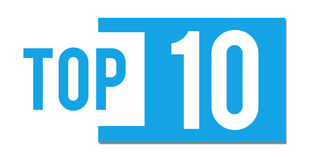 Top 10 Blue Abstract Bar. Top 10 text written over blue background Royalty Free Stock Photos