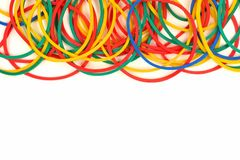 Top border of elastic rubber bands Royalty Free Stock Photography