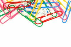 Top border of paper clips Royalty Free Stock Image