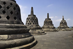Top of Borobudur. Temple in Yogyakarta, Indonesia Royalty Free Stock Images