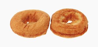 Top and Bottom of Plain Donut Stock Photo