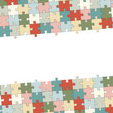 Top bottom puzzle background Royalty Free Stock Photos