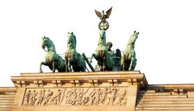 Top of Brandenburg Gate cut out Royalty Free Stock Photography