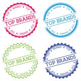 Top brands badge isolated on white background. Royalty Free Stock Photo