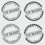 Top brands insignia stamp isolated on white. Stock Photo