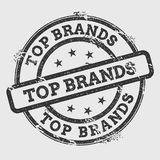 Top brands rubber stamp  on white. Royalty Free Stock Images