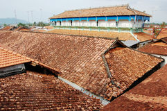 Top of brick houses at Long Son village in Vung Tau, Vietnam Royalty Free Stock Photography