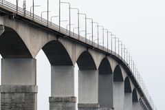 The top of the bridge Royalty Free Stock Images