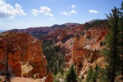 On top of bryce canyon royalty free stock photo