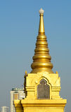 Top of Buddhism temple in Bangkok Stock Image