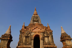Top of the Buddhist temple in Bagan, Myanmar Royalty Free Stock Photos