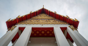 Top of Buddhist temple in Bangkok, Thailand Royalty Free Stock Photo