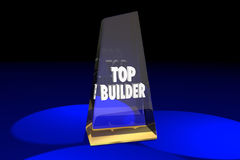Top Builder Contractor Construction Award Words 3d Illustration Royalty Free Stock Images