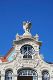 Top of a Building. With an eagle statue, in Aveiro (Portugal Royalty Free Stock Image
