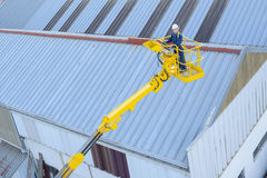 On top building roof Stock Photography