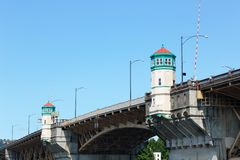 Top of Burnside Bridge Stock Image