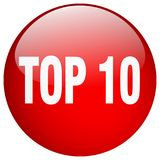 Top 10 button. Top 10 round button isolated on white background. top 10 Stock Illustration