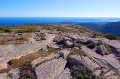 Acadia National Park, Maine, USA. Top of the Cadillac Peak in Acadia National Park, Maine, USA Royalty Free Stock Image