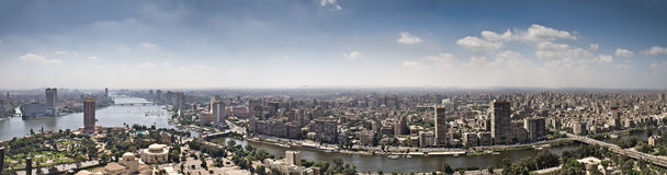 Top of Cairo City from tv tower. Panorama - Egypt Royalty Free Stock Images