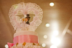 Top of Cake for wedding ceremony, filtered Royalty Free Stock Images