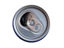The top of the can for drink royalty free stock photos