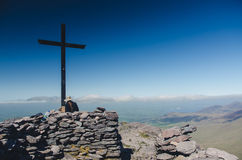 At the top of Carrauntoohil, Ireland's highest hill Royalty Free Stock Images