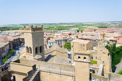 Top of the Castle of Olite Stock Photo